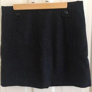 J.Crew wool blend miniskirt, charcoal. Sz 2